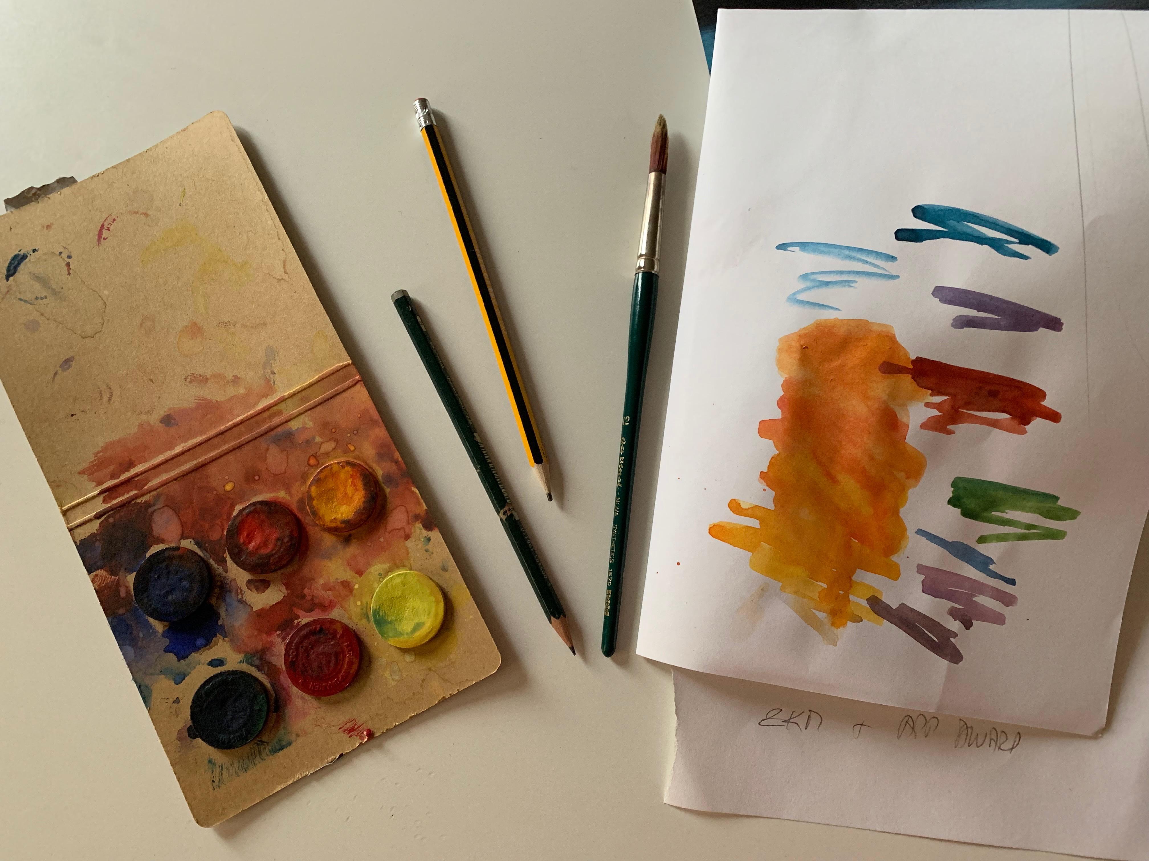 Farbe Stift Papier Kunst machen